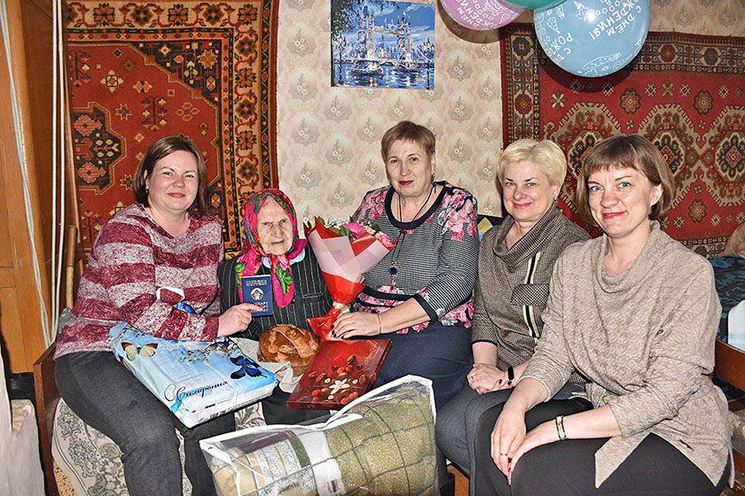 Верхнедвинская жительница отметила 100-летний юбилей